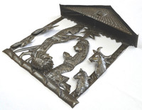 Haiti metal nativity Fair Trade Federation Metal Art side view