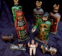 hand carved Guatemalan Nativity, Nahaula