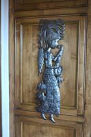 haiti metal angel, indoor and outdoor, steel drum art, it's cactus metal art haiti