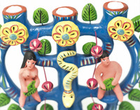 "Adam and Eve Tree of Life, by Mexican Folk Artist Gerardo Ortega Tree of Life, 9.5"" x 9.5"" x 4"" (Ortega 96)"