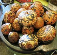 hand carved gourd nativity , Cochas Grande Peru , Pablo Hurtado