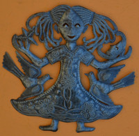 """Child with the Moon and the Star Haiti Metal Home Decor 15"""" x 15"""""""