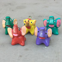 whimsical elephant beads from Guatemala