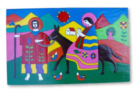 hand painted nativity El Salvador, Flight from Egypt