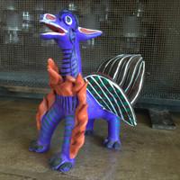 Ocumicho Dragon for sale its cactus Folk Art , one of a kind Fair Trade