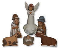 Ayacucho Peru Nativity, painted with natural dyes