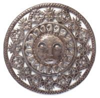 Haiti metal sun - fair trade wall art