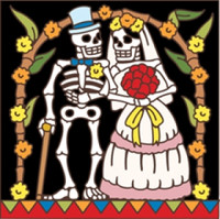 Day of the Dead Tile Married Couple
