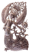 Haiti Metal Art, Angel Wall Sculpture