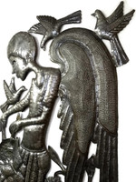 Angel Playing Drum, Haitian Metal Art, By It's Cactus Proud Member of the Fair Trade Federation