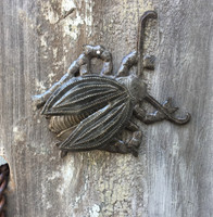 "Garden Bugs, Beetles, Haitian Metal Home Decor 5.5"" x 5.5"""