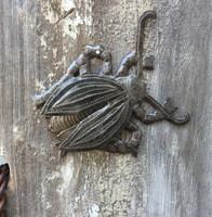 "Garden Bugs, Beetles, Haitian Metal Home Decor 5.5"" x 5.5"""