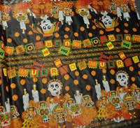 Day of the Dead Oil Cloth, Folk Art Party Decoration