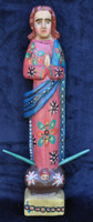 Fair trade hand carved wooden virgin Mary