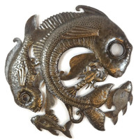 Haitian Metal Fish Lid - Rustic Home Decoration, Beach Home Living Decor,
