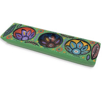 hand painted carved tray