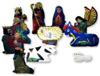 Oaxaca Nativity hand cut tin