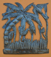 "Garden Palm - One of a Kind    12"" x 13"""