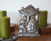 "Handmade Ethnic Nativity, Christmas Home Decorations, Haiti Steel Drum Art 7.5"" X 10.5"""