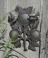 Spring Floral Birds, Garden Patio Yard Art, Handmade in Haiti
