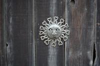 patio and yard art sun, Haiti metal, It's Cactus Metal art haiti
