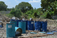 Steel oil Drums from Haiti