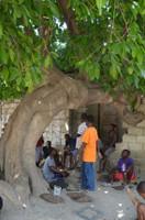 Under the tree Haiti metal wall art