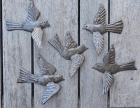Hand Made wall art from Haiti - Birds in a Flock