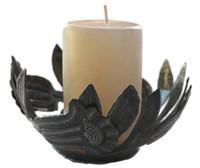 metal candle holder handmade in Haiti