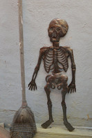 """Skeleton in your Closet, Day of the Dead, REC514     13"""" x 28"""""""