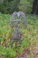 "Garden Stake, Right this way Girl   SM522   10"" x 17"""