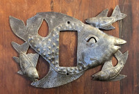 Swimming Fish Switch Plate Cover,  Quality Metal