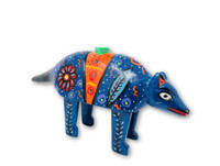 """Hand Carved Armadillo Candle Holder, Unique Table top decor, Handmade in Guatemala 12"""" x 8"""""""