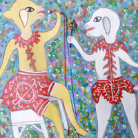 DOGS AT KAREOKE BY GERARD FORTUNE