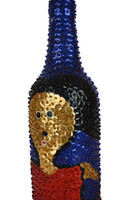 "Altar Sequin Bottle Haiti 3.5"" x 12"""