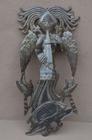 Angel playing music, it's cactus metal art haiti REC155, indoor and outdoor