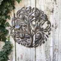 GARDEN ART TREE OF LIFE RECYCLED STEEL HAITI