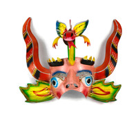 Bolivian Dance Mask, China Supay with Horns
