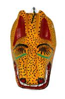 """Hand Carved Jaguar Mask 6.5"""" x 5"""" x 10"""""""