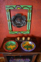 Hand carved wooden bowl Guatemala Fair Trade, Colorful painted