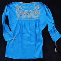 Mexico Blouse Blue MEX0410