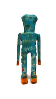 """Day of the Dead, Halloween Wooden Skeleton   6.5"""""""