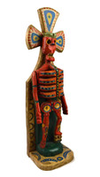 """Hand Carved Skeleton, Day of the Dead, Halloween Decoration  5.5"""" x 19.75"""""""