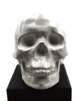 """White Glass Skull 6"""" x 8"""""""