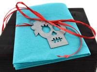 """Metal Skeleton Gift Tags (Set of 2) 3.5"""""""