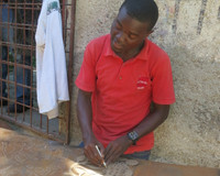 Norvh Haitian Artist Drawing ist - one of a kind art