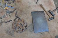 Hammer and Nail - photos of tools used in Haiti Metal art