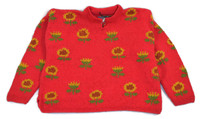 Bolivian Sweater 100% cotton, Women's one size fits all super warm