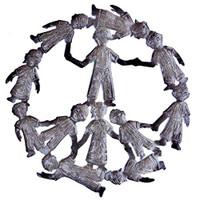 Peace Sign Haiti Metal Art