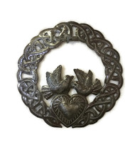 """Celtic Claddagh Ring with Birds 6"""""""